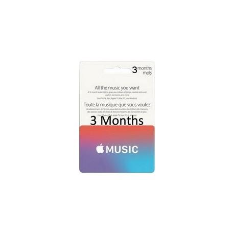گیفت کارت اپل موزیک 3 ماهه آمریکا