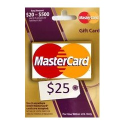 گیفت کارت مستر کارت 25 دلاری امریکا