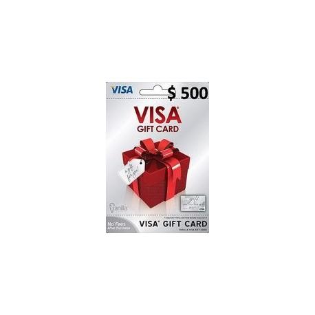 گیفت کارت ویزا 500 دلاری امریکا