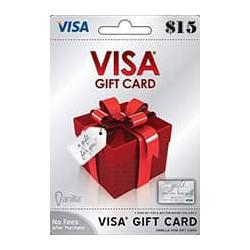 گیفت کارت ویزا کارت 15 دلاری امریکا