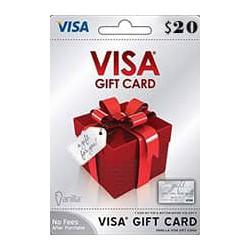 گیفت کارت ویزا کارت 20 دلاری امریکا