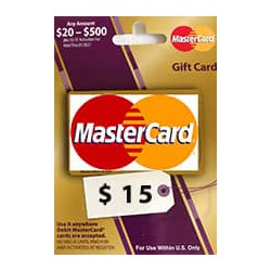 گیفت کارت مستر کارت 15 دلاری امریکا