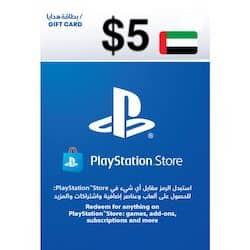 گیفت کارت پلی استیشن نتورک 5 دلاری امارات