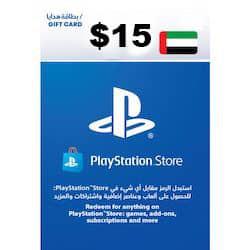گیفت کارت پلی استیشن نتورک 15 دلاری امارات