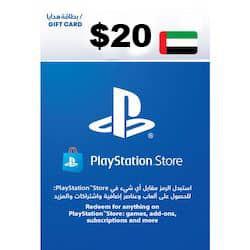 گیفت کارت پلی استیشن نتورک 20 دلاری امارات