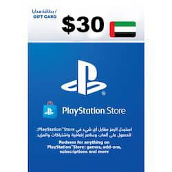 گیفت کارت پلی استیشن نتورک 30 دلاری امارات