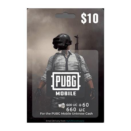 گیفت کارت 10 دلاری یوسی پابجی