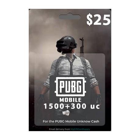 گیفت کارت 25 دلاری یوسی پابجی