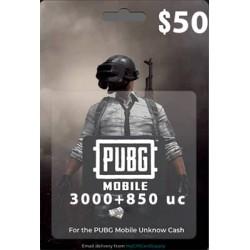 گیفت کارت 50 دلاری یوسی پابجی