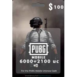 گیفت کارت 100 دلاری یوسی پابجی