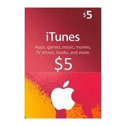 گیفت کارت اپل  5 دلاری آمریکا