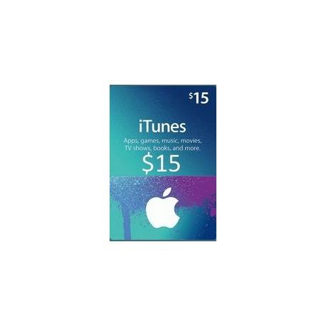 گیفت کارت اپل  15 دلاری آمریکا