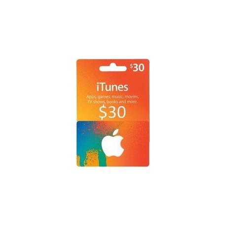 گیفت کارت اپل  30 دلاری آمریکا