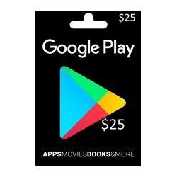 گیفت کارت گوگل پلی 25 دلاری آمریکا