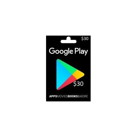 گیفت کارت گوگل پلی 30 دلاری آمریکا