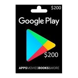 گیفت کارت گوگل پلی 200 دلاری آمریکا